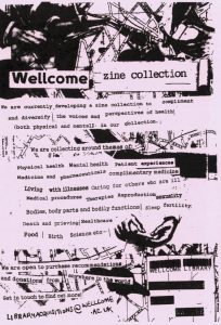 Flyer for the Wellcome Collection zine library