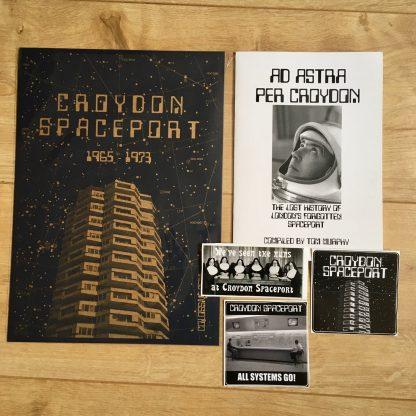 Croydon Spaceport fun pack (Ad Astra Per Croydon, A4 riso print, stickers)