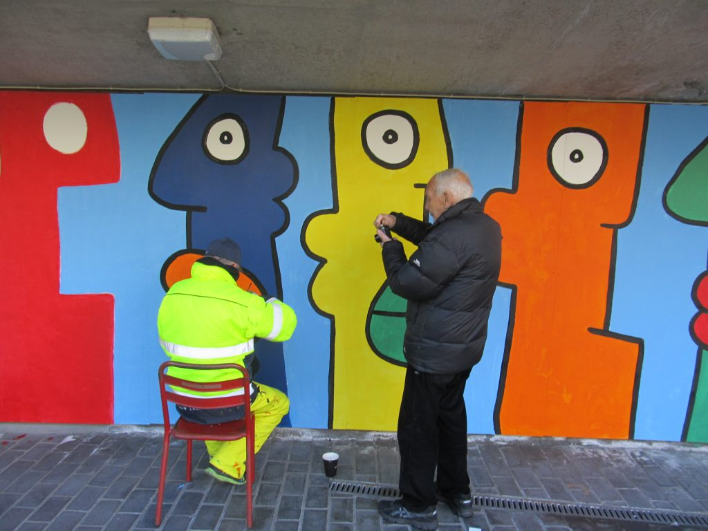 Dad and Thierry Noir